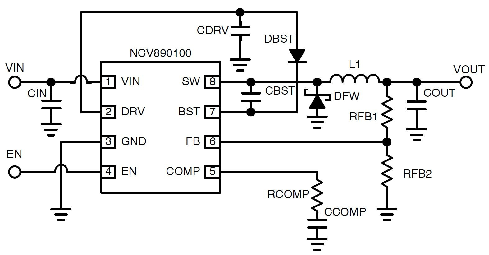 Ncv Automotive Switching Regulator Buck 1 2 A 2 Mhz