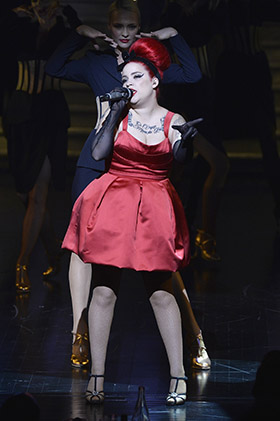 PARIS, FRANCE - APRIL 08: Dancers perform on Paris Merveilles', Lido chanteuse : Manon (Photo @Pascal Le Segretain/Getty Images