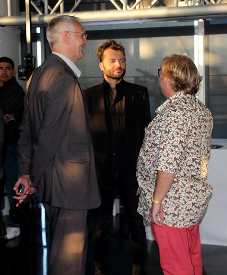 Stéphane Dalmat (laTV3D), Fabien Remblier (La TV3d) et Guy Courthéoux