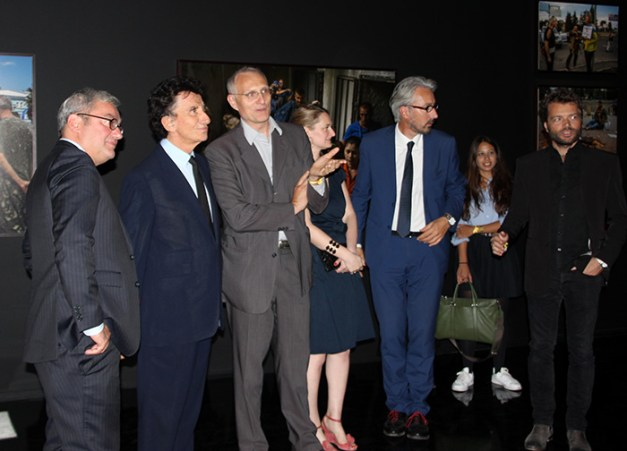 Jack Lang et Stéphane Dalmat, avec Fabien Remblier