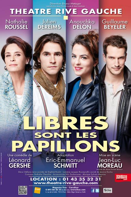 LIBRES SONT LES PAPILLONS(Théâtre Rive Gauche-Paris 14ème) - Visuel définitif SANS PARTENAIRES