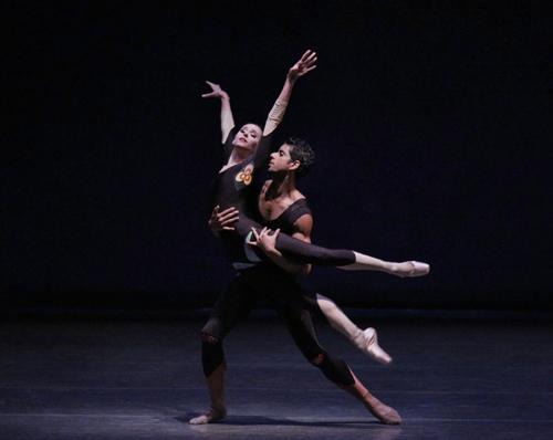 Ashley Laracey and Amar Ramasar in The Infernal Machine New York City Ballet Choreography by Peter Martins Credit Photo: Paul Kolnik studio@paulkolnik.com nyc 212-362-7778
