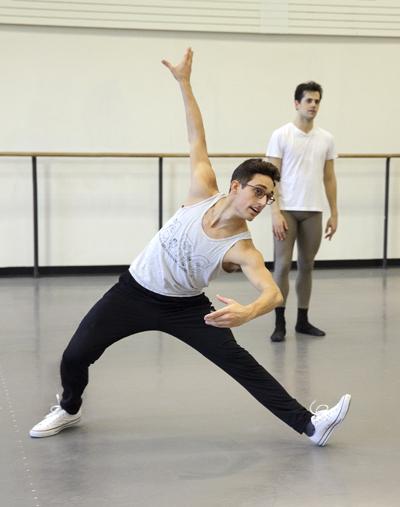 Justin Peck Rehearsal Choreography by Justin Peck New York City Ballet Credit Photo: Paul Kolnik studio@paulkolnik.com nyc 212-362-7778