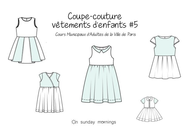 Cours municipaux d'adultes - coupe couture vetement enfants - on sunday mornings