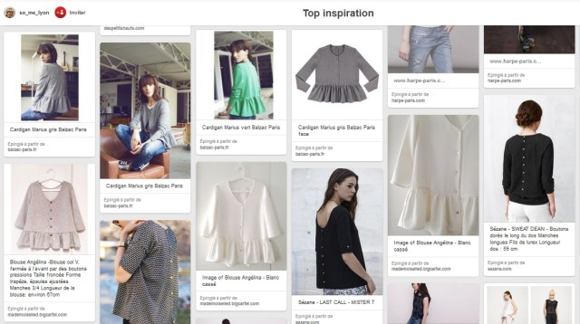 Pinterest blouses à basque