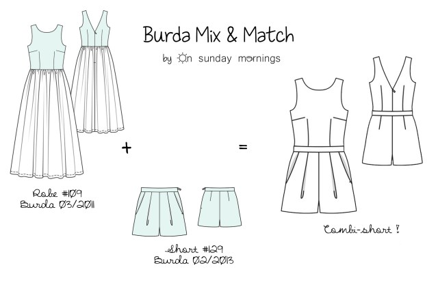 Le combi-short, Burda Mix&Match #2 - onsundaymornings