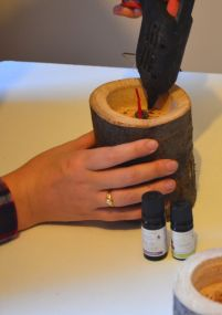 Les bougies de Noël en bois DIY - Tuto - on sunday mornings