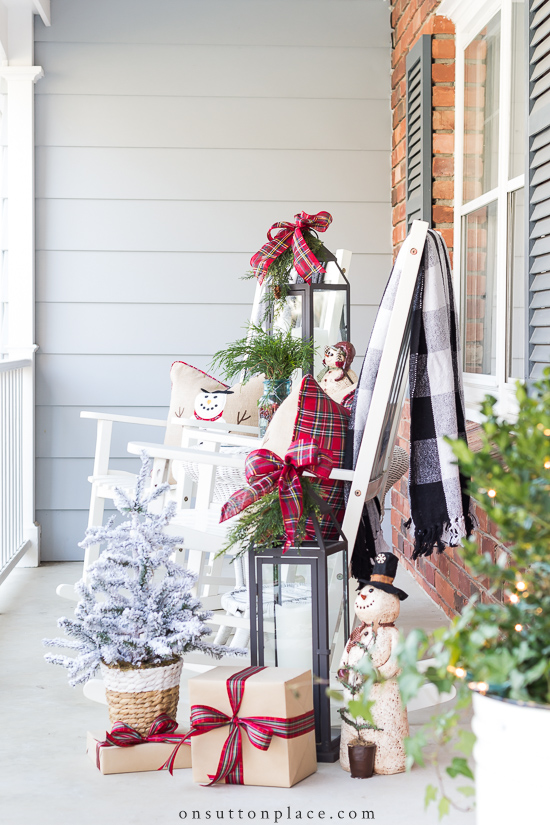 Diy Outdoor Christmas Decorations For The Porch On Sutton Place