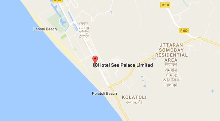 Location of Hotel Sea Palace Ltd on Google Map