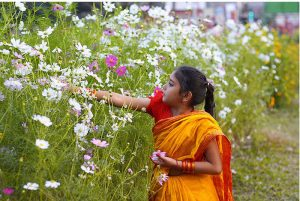 A young Girl in Pahela Falgun