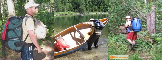 Backcountry canoe camping Algonquin