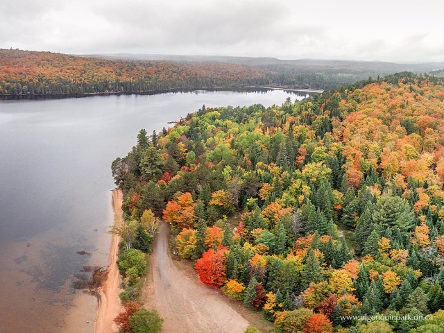 Rock Lake at the Booth's Rock Trail, Algonquin Fall Colours