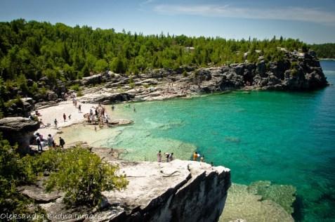 bruce peninsula national park rocky swimming area