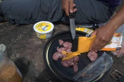 cheese pitas - backcountry camping recipies