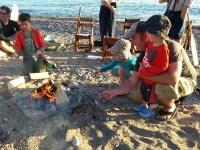 beach sing-a-long and bonfire at Lake Superior Provincial Park