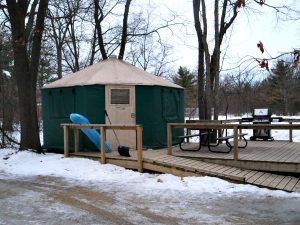 Winter yurt at pinery provincial park