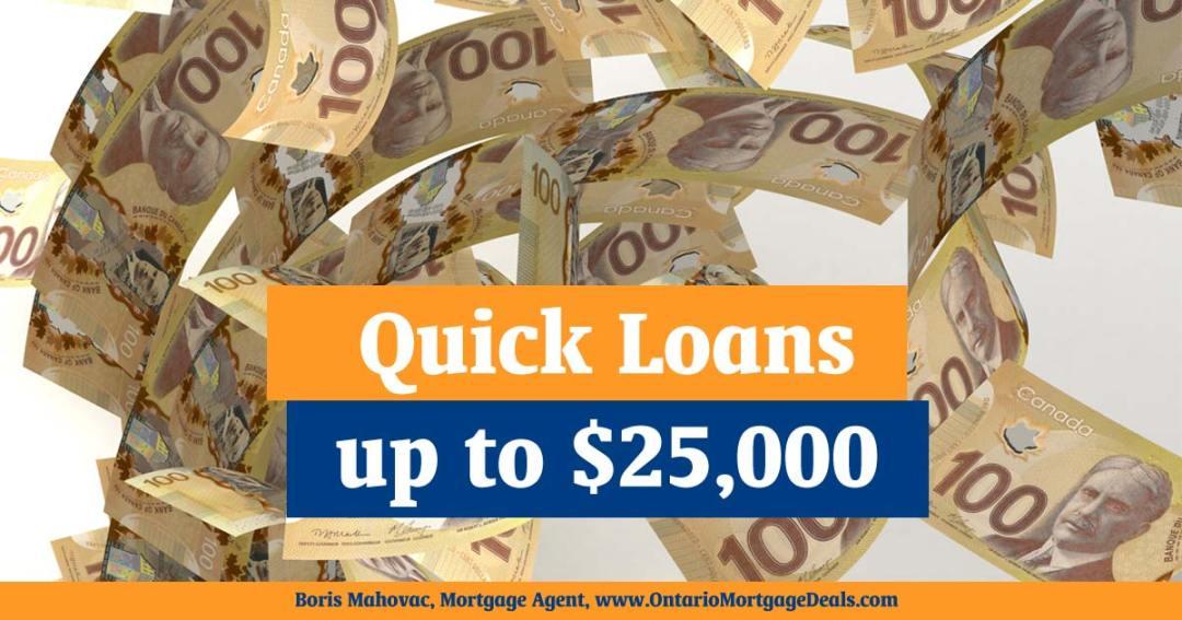 25K quick loan