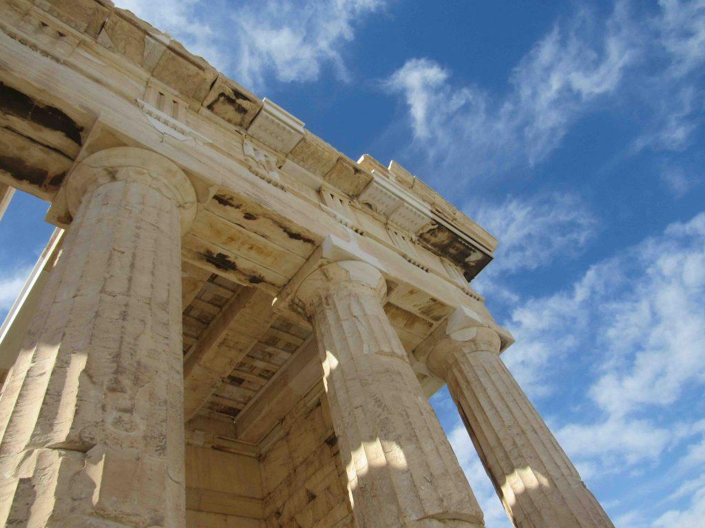 Acropolis Athene vanaf Evia Griekenland