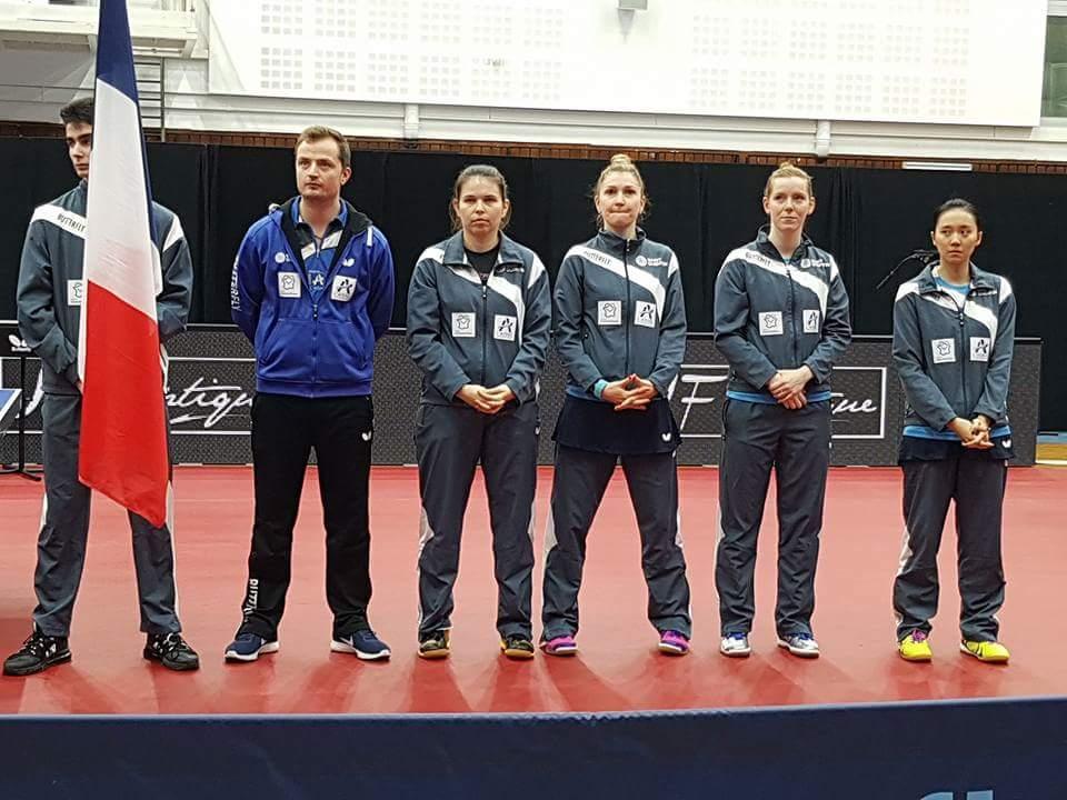 De gauche à droite Franck Delcambre, Aurore Le Mansec, Daniela Monteiro, Britt Eerland et Hsien-Tzu Cheng