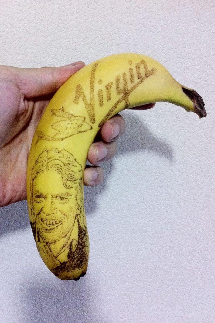 الرسم على الموز 10