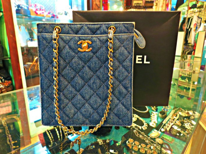 حقائب شانيل 2014 الزرقاء من الجينز و الدنيم  (1)