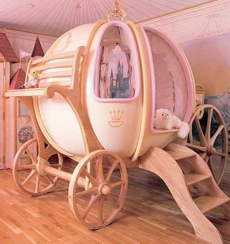 سرير عربة سندريلا