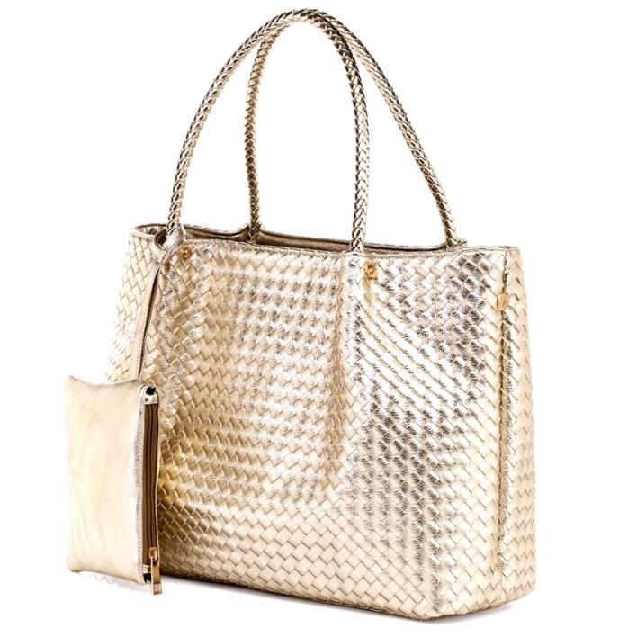 حقيبة الرفاهية بدمج من الفضي و الذهبي سوياً ! (1)