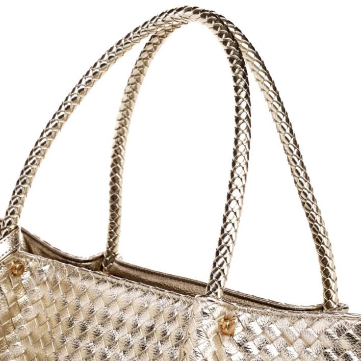حقيبة الرفاهية بدمج من الفضي و الذهبي سوياً ! (8)