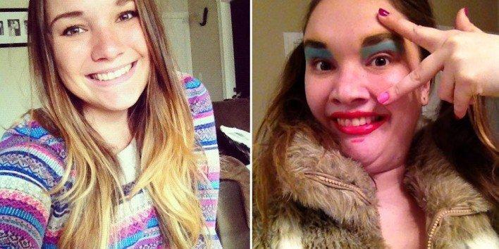 جنون النساء يدفعهن الى نشر صور مخيفة لأنفسهن ! (1)
