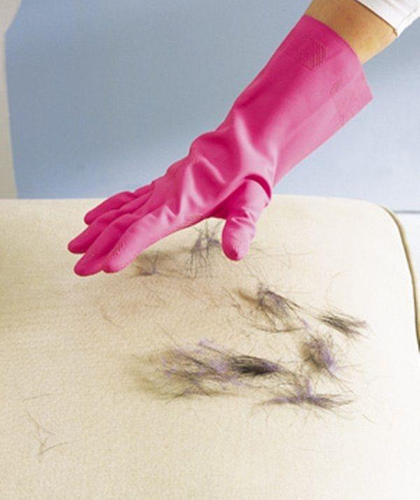 الشعر من المفروشات