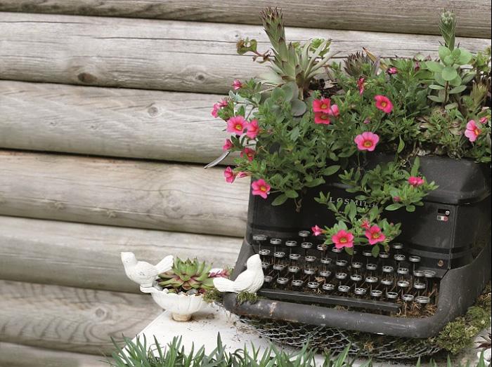 آلة كاتبة للزهور
