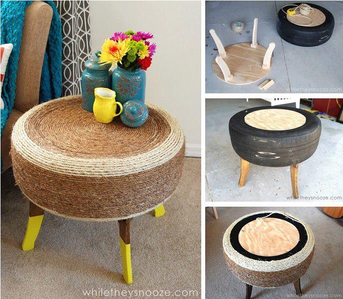 صناعة طاولة صغير بإضافة بعض الحبال إليها