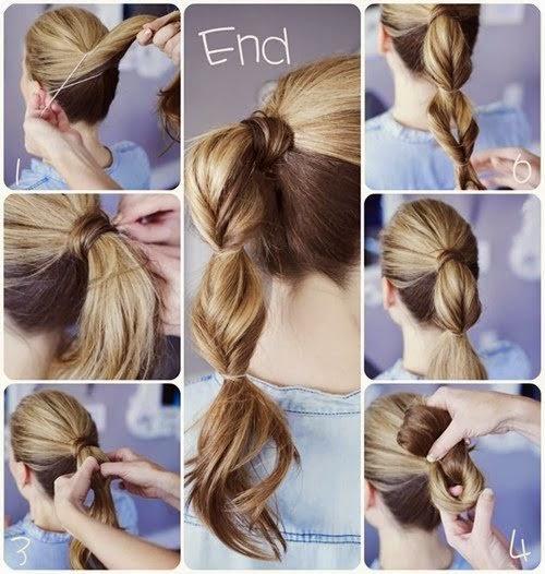 تسريحة شعر سهلة
