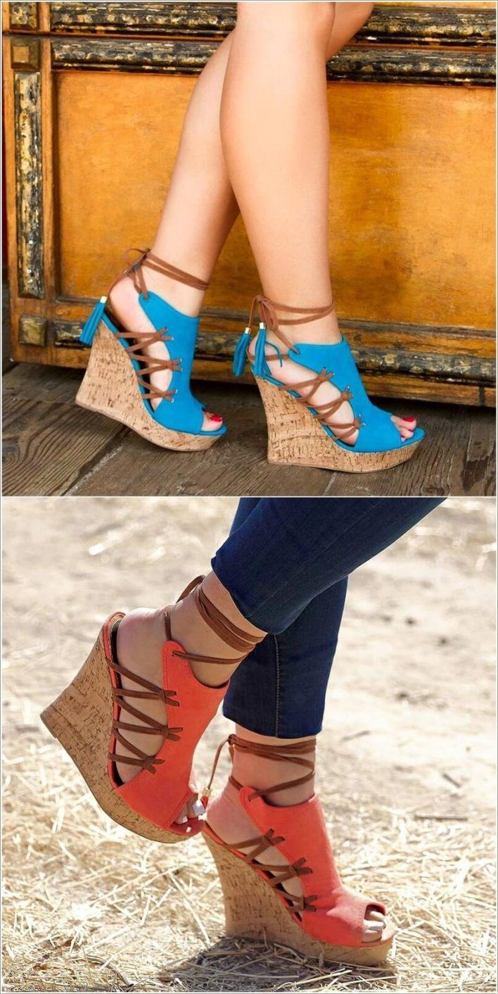 حذاء مع رباط من الجنب إلة الكاحل