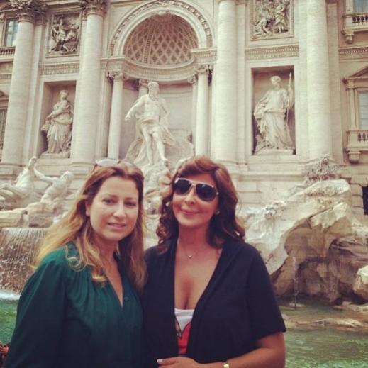 صور الفنانة اليسا في العاصمة الايطالية روما