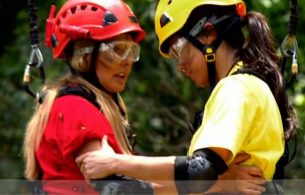 Carol Vorderman and Sam Quek in I'm a Celebrity, Get Me Out of Here!