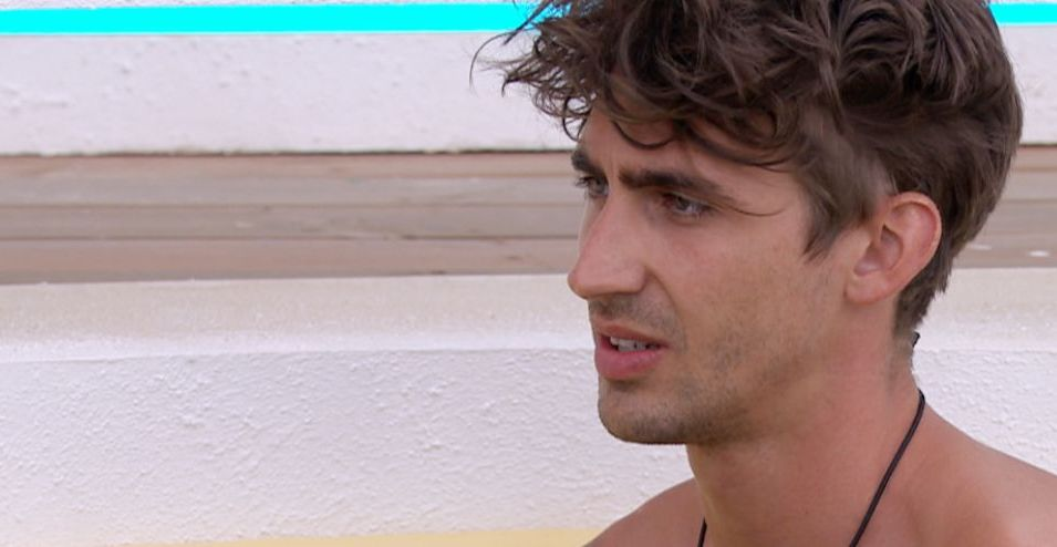Chris talking to no one - Love Island