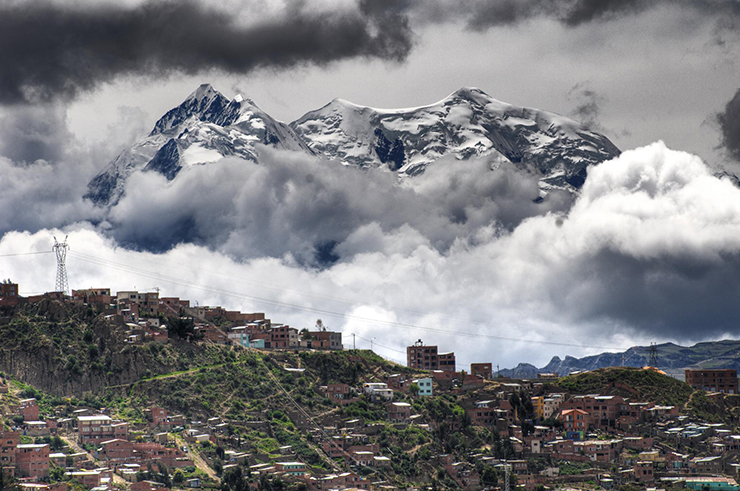 La Paz is easily a contender for the world's most stunning capital, the high-altitude city set against a dramatic mountainous backdrop and surrounded by staggering vistas. Photo credit: Pedro Szekely