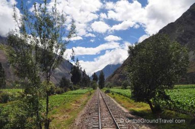 Scenery along the train route from trips around the world