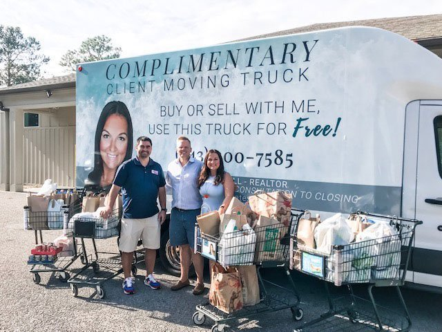 Charleston Real Estate Professional's Thanksgiving Food Drive Scores Big For Community