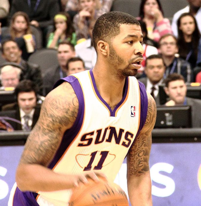 Markieff Morris has been at the center of a series of problems this season for the Phoenix Suns (Mwinog2777/Wikimedia Commons).
