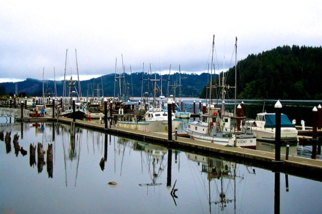 Florence Oregon fishing boat dock