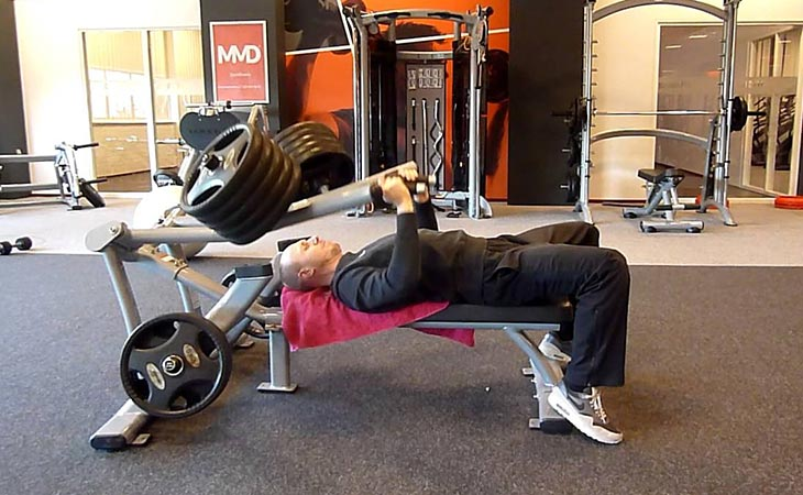 Traditional Supine Bench Press with Olympic bar
