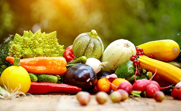 Common Colors of Fruits and Vegetables