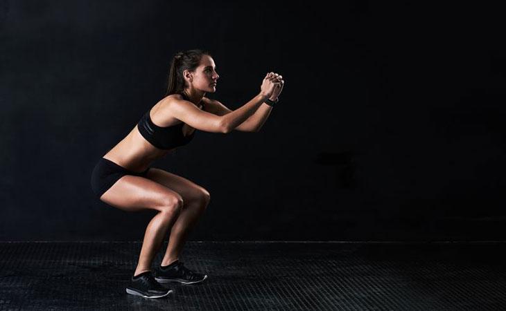 Fitness Woman Doing Squat Pulses Alternatives
