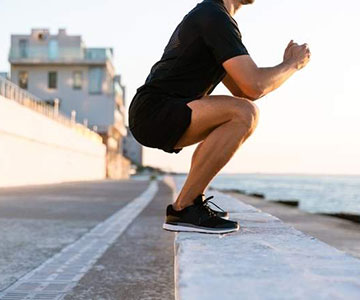 Man Working Out Squats