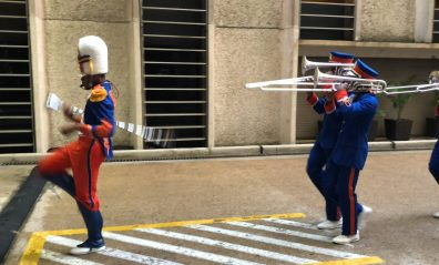 new orleans high school marching band at event