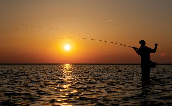 sunset fly cast