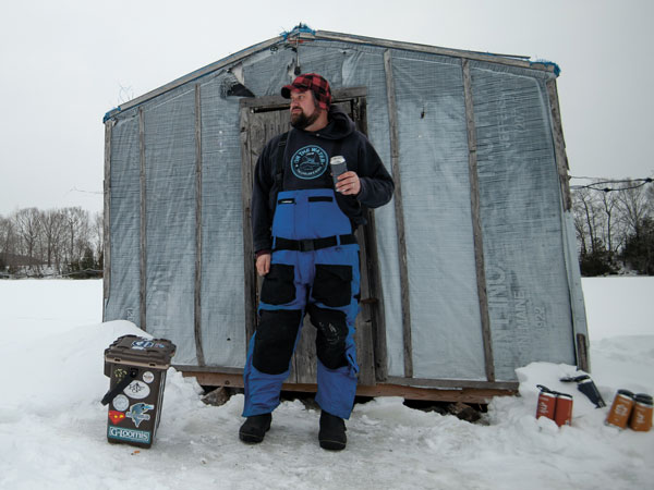 Andy at the smelt shack