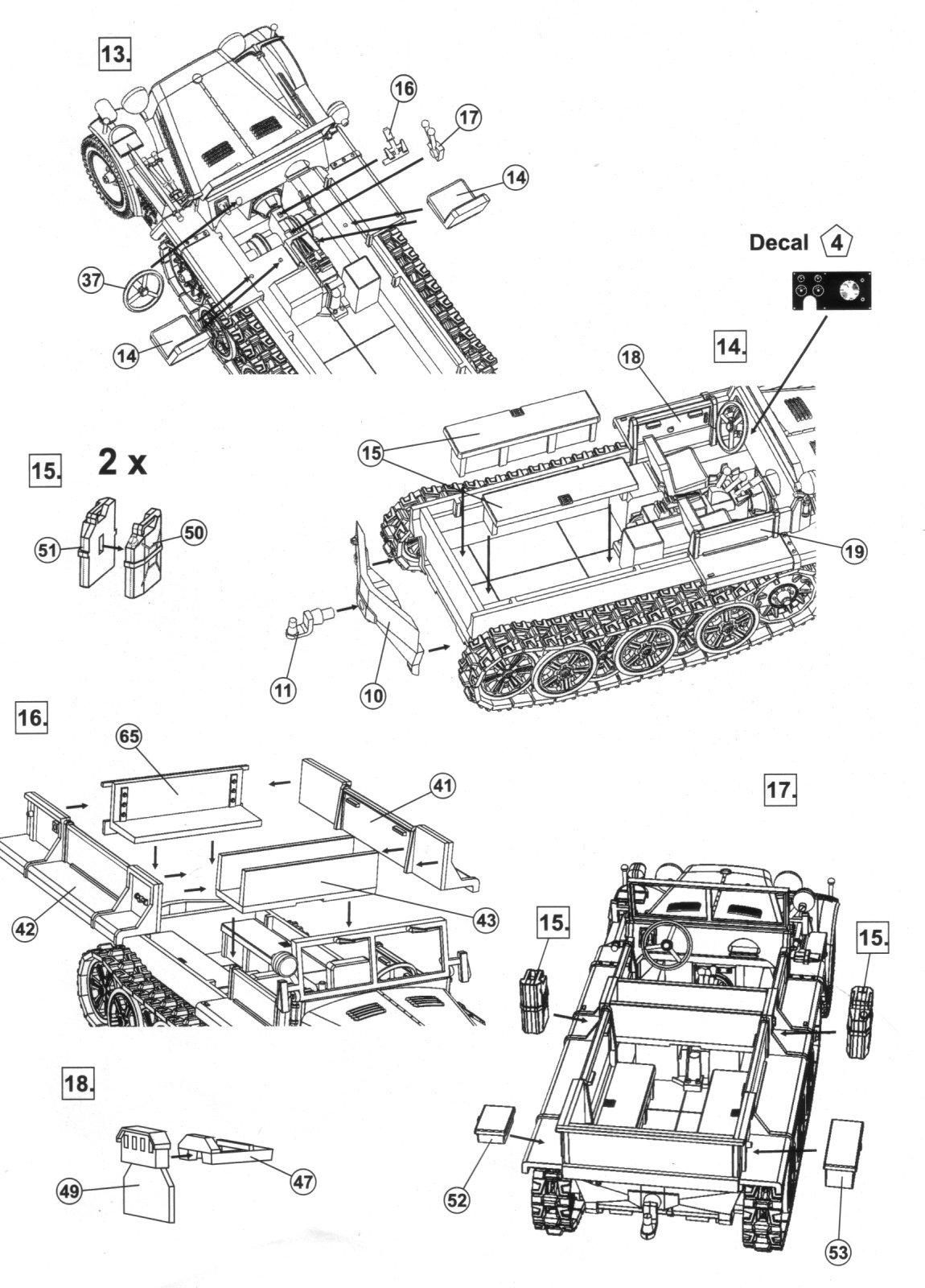 Mk72 Zugkraftwagen 1t Sd Kfz 10 Demag Typ D7 Dak Kit